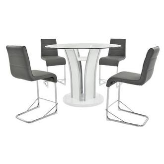 Dash Gray 5-Piece High Dining Set