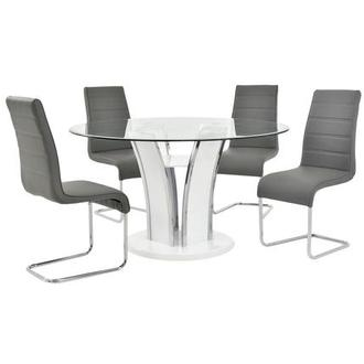 Dash Gray 5-Piece Casual Dining Set