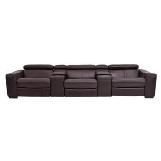 James Brown Home Theater Leather Seating