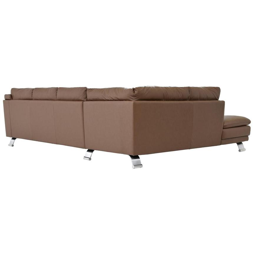 Rio Tan Leather Sofa w/Left Chaise  alternate image, 4 of 6 images.