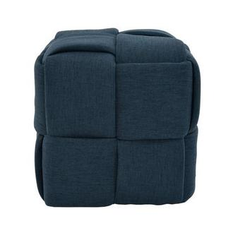Hedron Blue Ottoman