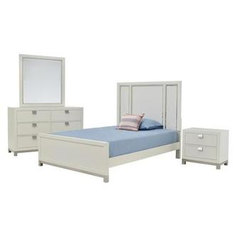 Metro White 4-Piece Full Bedroom Set