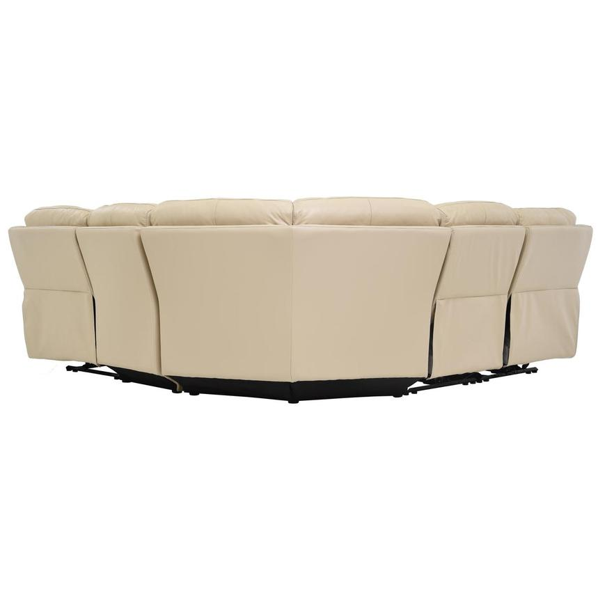 Ronald Cream Power Motion Leather Sofa w/Right & Left Recliners  alternate image, 4 of 6 images.