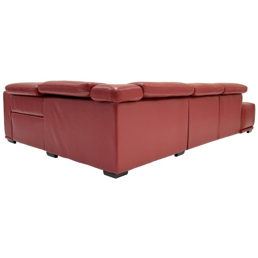 Davis 2.0 Red Power Motion Leather Sofa w/Left Chaise  alternate image, 4 of 6 images.