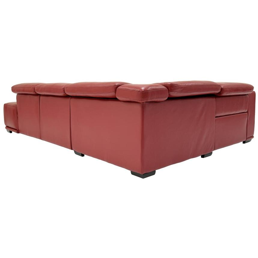 Davis 2.0 Red Power Motion Leather Sofa w/Right Chaise  alternate image, 4 of 6 images.