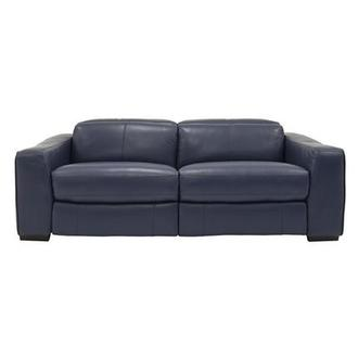 Jay Blue Power Motion Leather Sofa