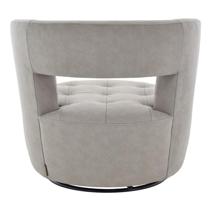 Noale Light Gray Swivel Accent Chair  alternate image, 4 of 6 images.