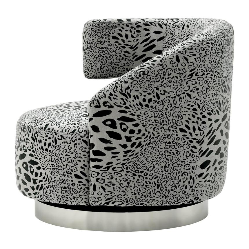 Okru Animal Print Swivel Chair El Dorado Furniture