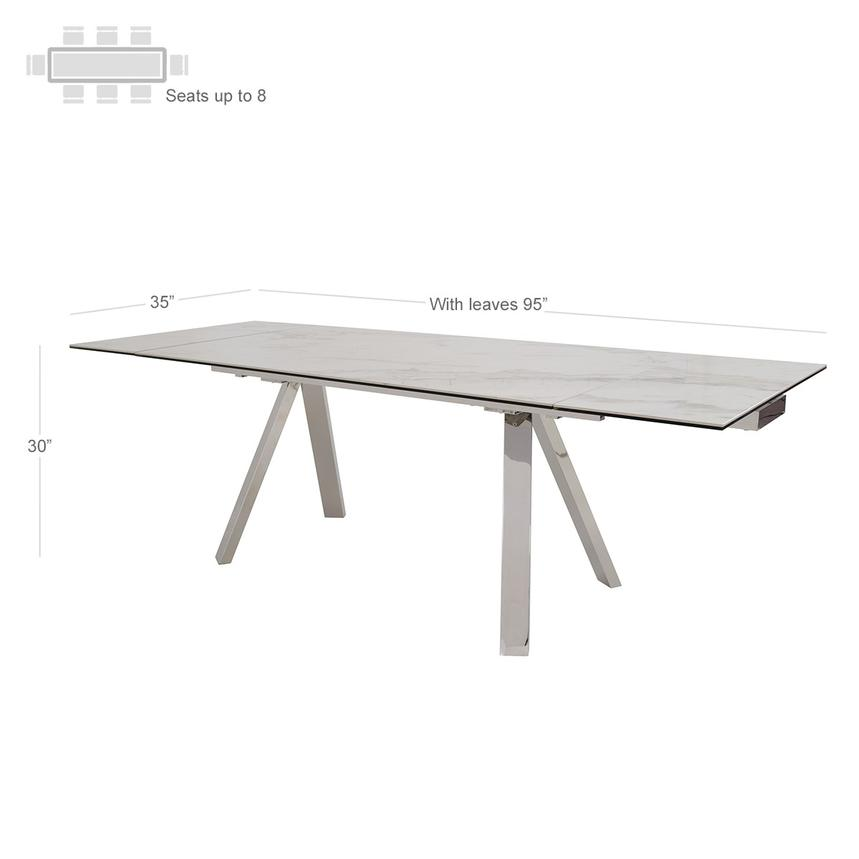 Contempo Extendable Dining Table  alternate image, 3 of 5 images.