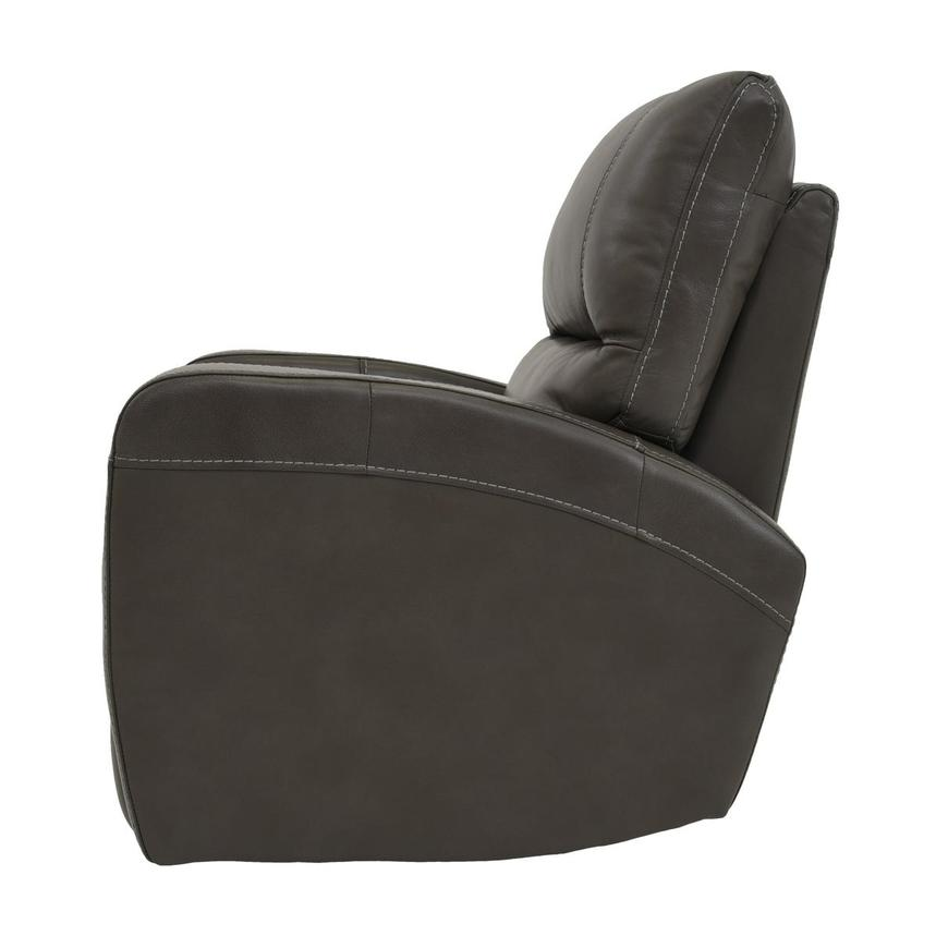 Keegan Gray Power Motion Leather Recliner  alternate image, 4 of 7 images.