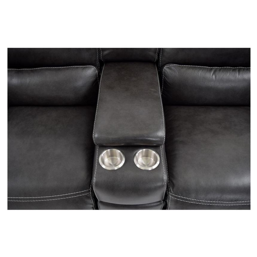 Cody Gray Power Motion Leather Loveseat w/Console  alternate image, 8 of 11 images.