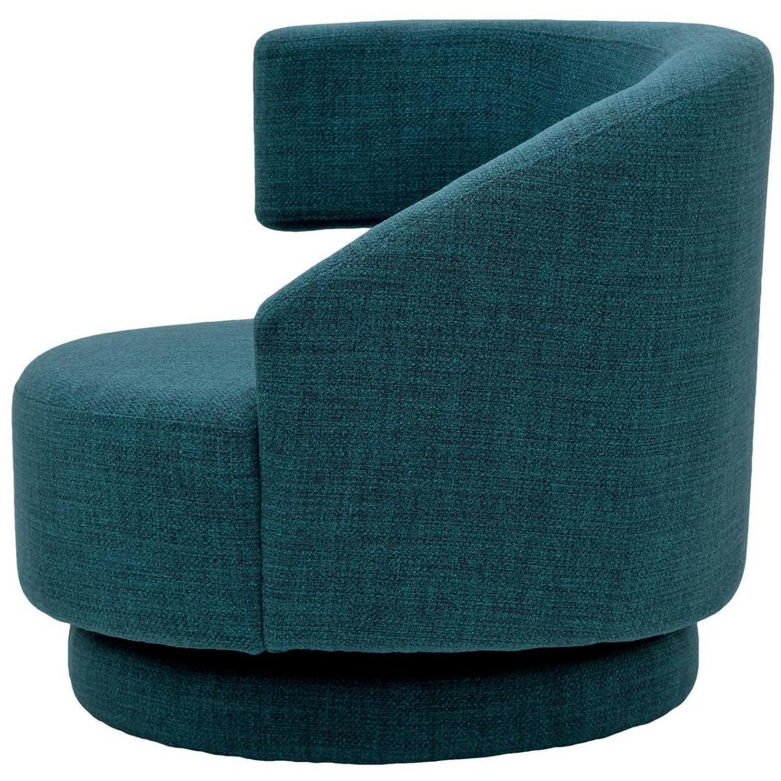 Okru Blue Swivel Chair w/2 Pillows  alternate image, 4 of 10 images.