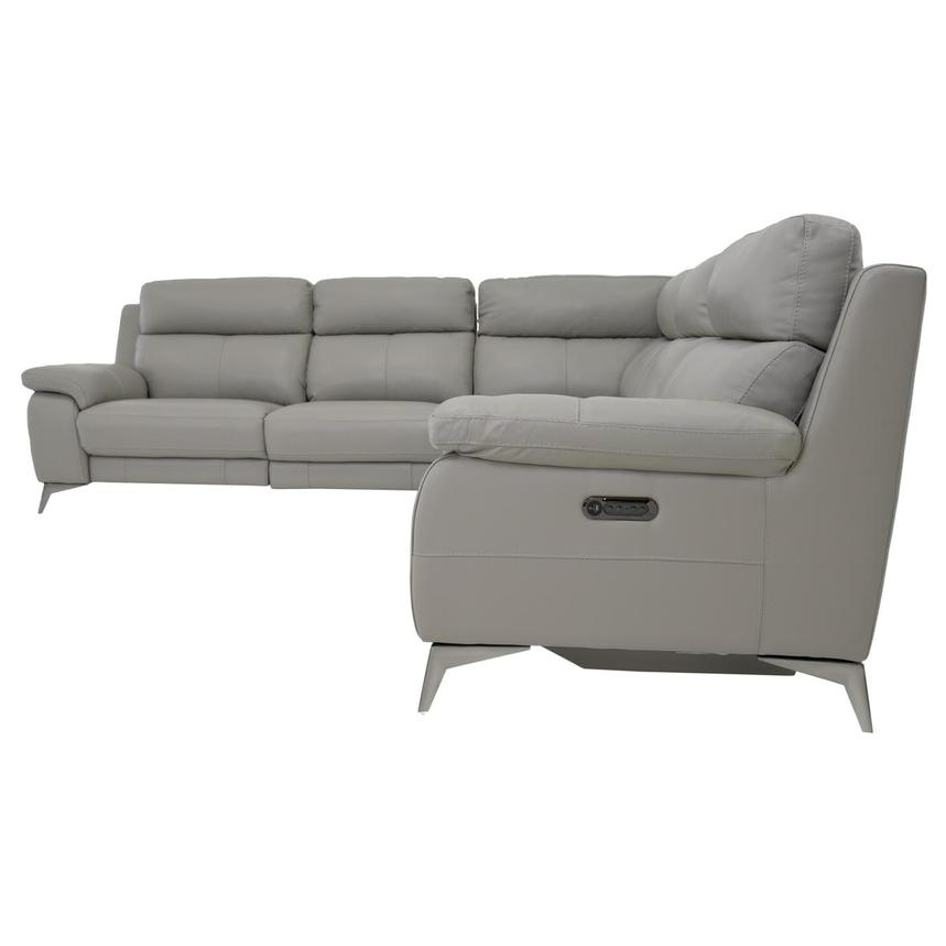 Barry Gray Power Motion Leather Sofa w/Right & Left Recliners  alternate image, 3 of 9 images.