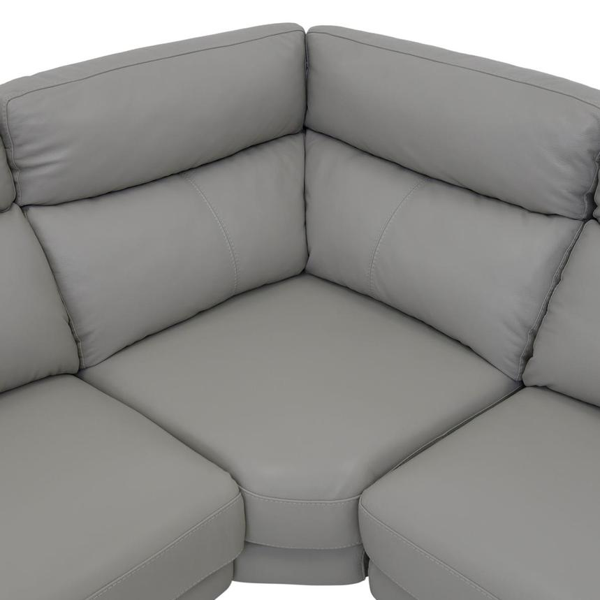 Barry Gray Power Motion Leather Sofa w/Right & Left Recliners  alternate image, 8 of 9 images.
