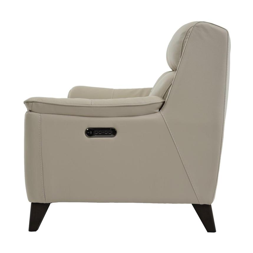 Mayte Cream Power Motion Leather Loveseat  alternate image, 4 of 7 images.