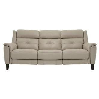 Mayte Cream Power Motion Leather Sofa