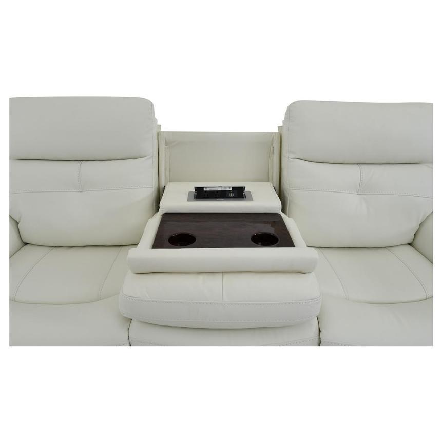 Zane Cream Power Motion Leather Sofa El Dorado Furniture