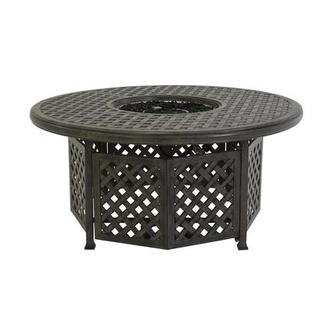 Castle Rock Gray Round Dining Table w/ Fire Pit