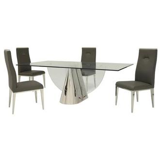 Extreme/Hyde Gray 5-Piece Formal Dining Set