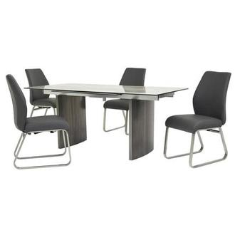 Rome Gray 5-Piece Formal Dining Set