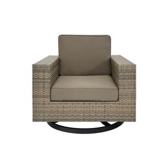 Neilina Brown Swivel Rocker Chair