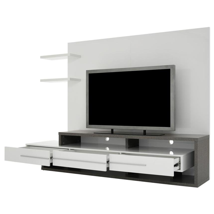 Avanti Gray/White Wall Unit  alternate image, 3 of 7 images.