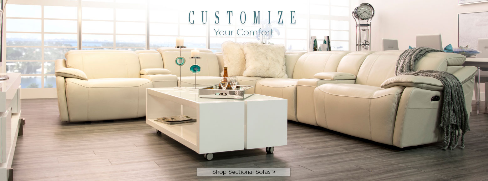 Customize your comfort. Shop sectional sofas.