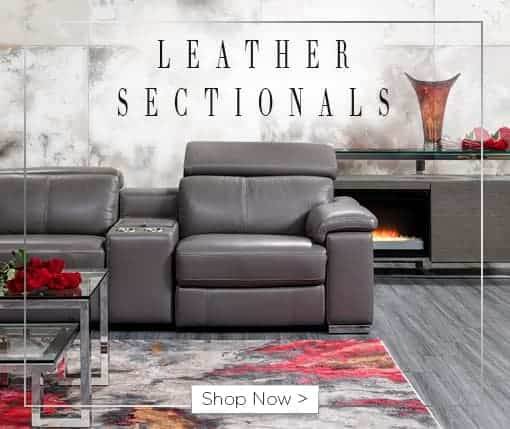Leather sectionals. Shop now.