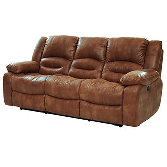 Wrangler Tan Reclining Sofa