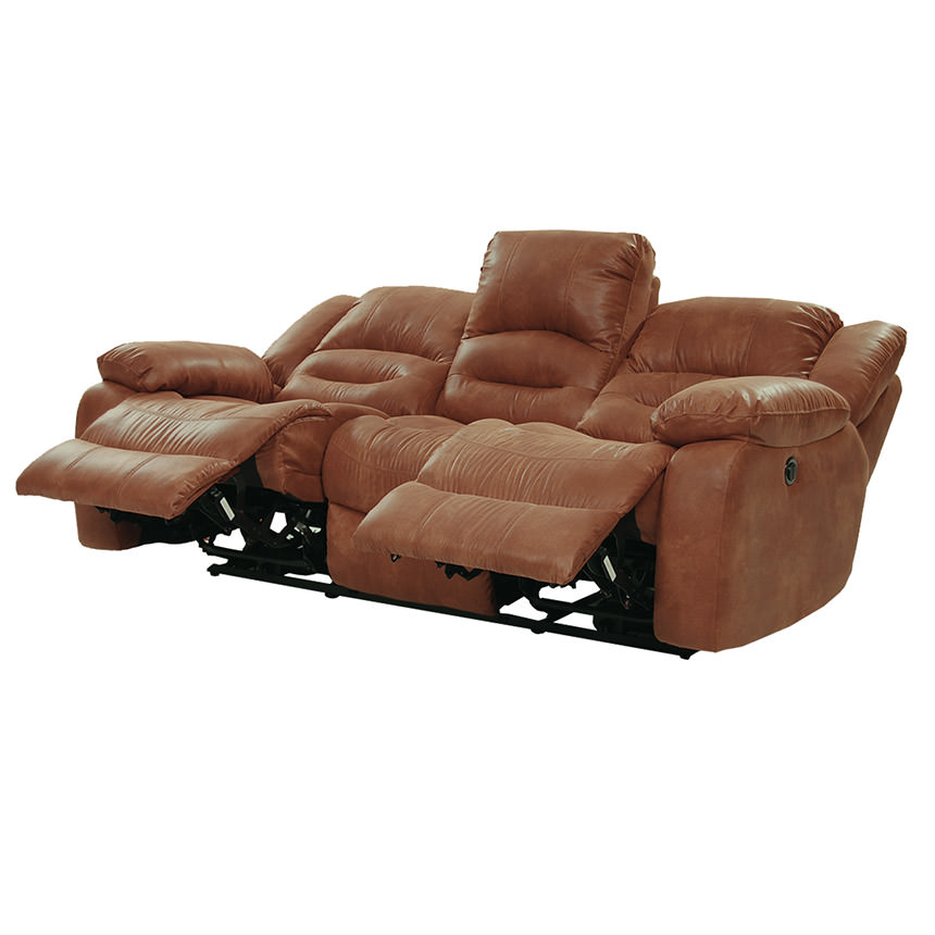 Wrangler Tan Recliner Sofa  alternate image, 4 of 5 images.