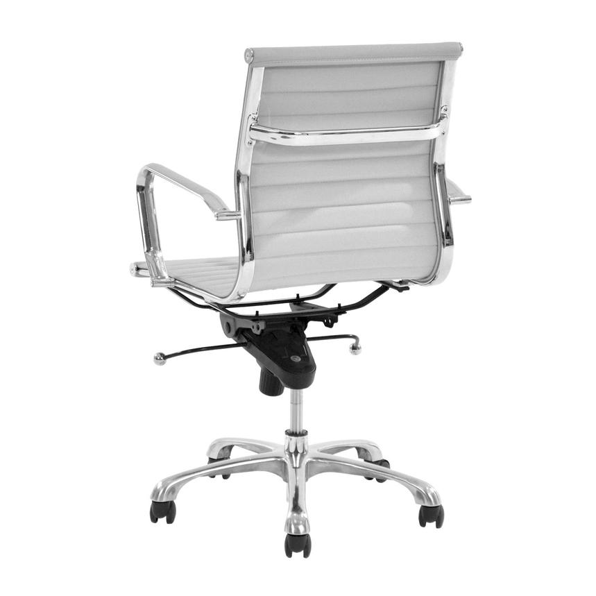 Watson White Low Back Desk Chair  alternate image, 4 of 7 images.
