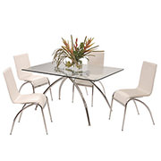 Elaine White 5-Piece Casual Dining Set  main image, 1 of 8 images.