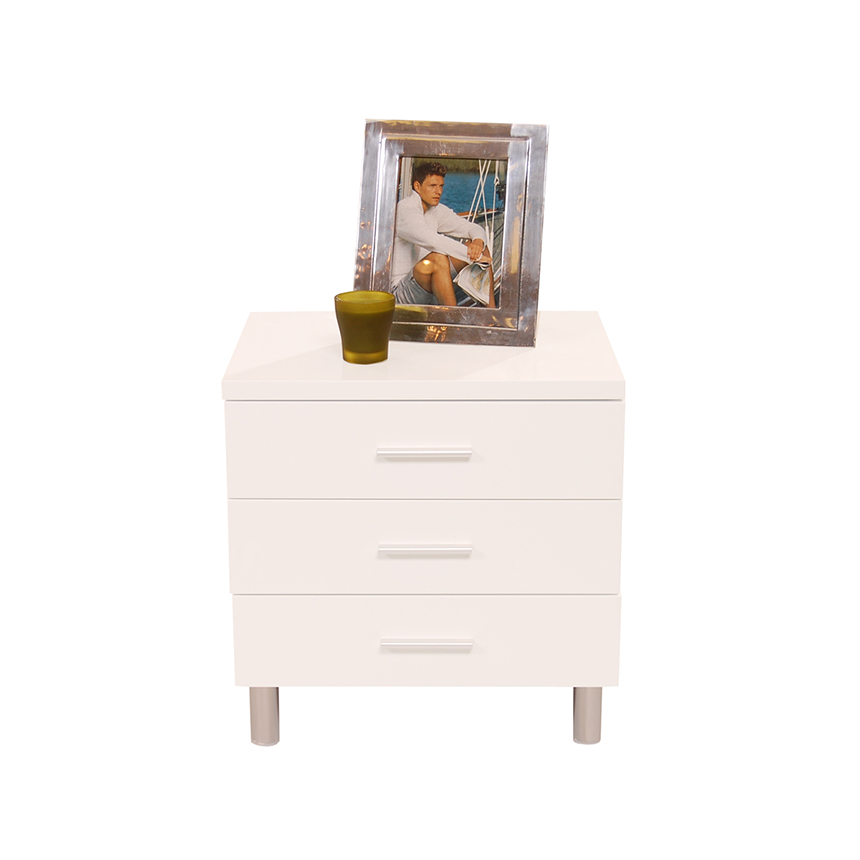 Bellmar White Nightstand  alternate image, 3 of 6 images.