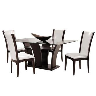 Daisy White 5-Piece Casual Dining Set