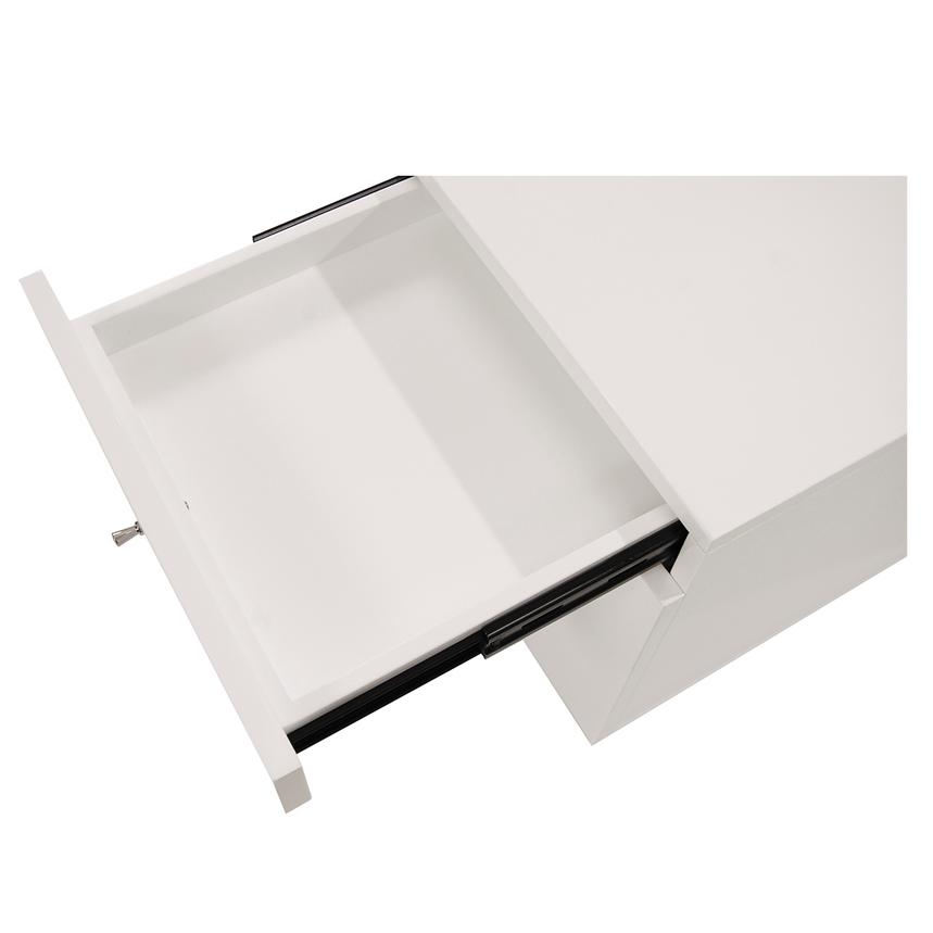 Vitra White Rolling File Cabinet  alternate image, 4 of 6 images.