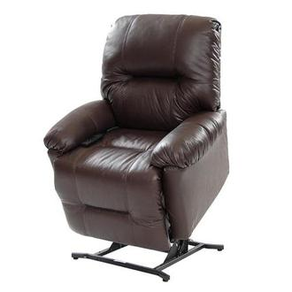 Wynette Brown Leather Power Lift Recliner