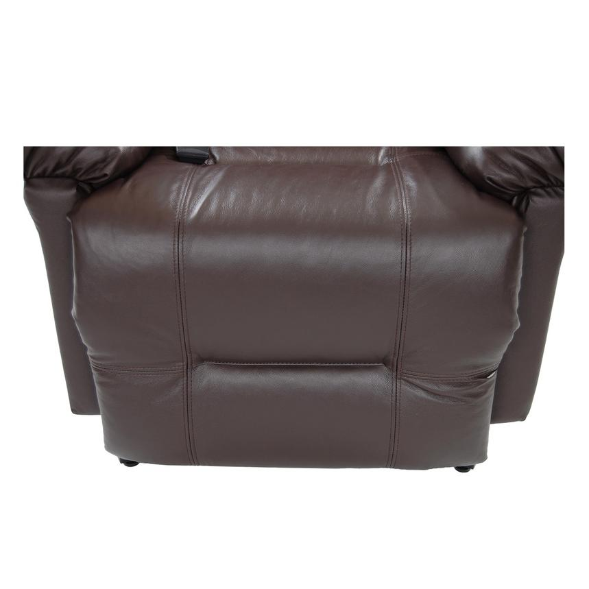 Wynette Brown Power-Lift Leather Recliner  alternate image, 9 of 10 images.
