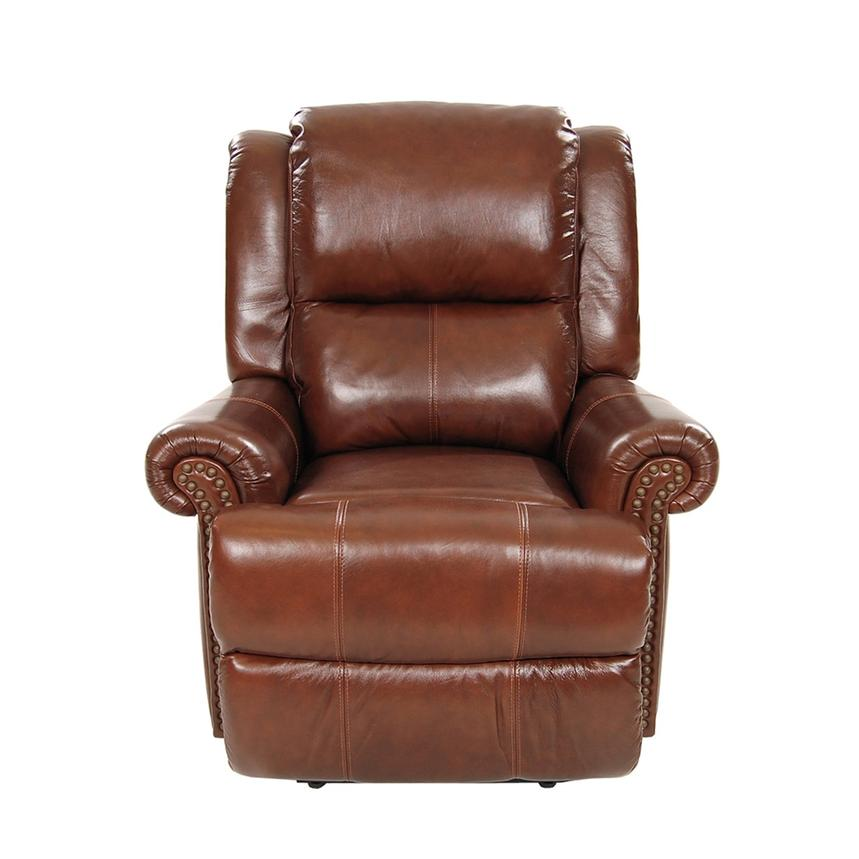 Mount Brown Leather Power Recliner  alternate image, 3 of 8 images.