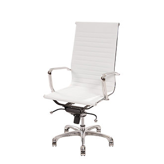 Watson White High Back Desk Chair