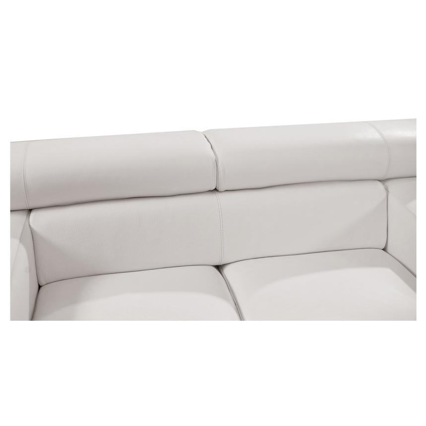 Grace White Leather Loveseat  alternate image, 4 of 8 images.