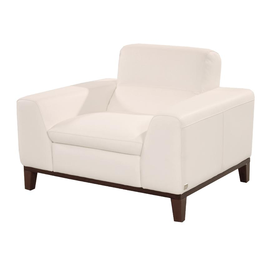 Milani White Leather Chair  main image, 1 of 5 images.