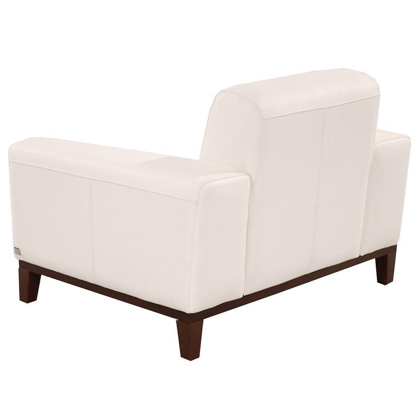 Milani White Leather Chair  alternate image, 4 of 8 images.