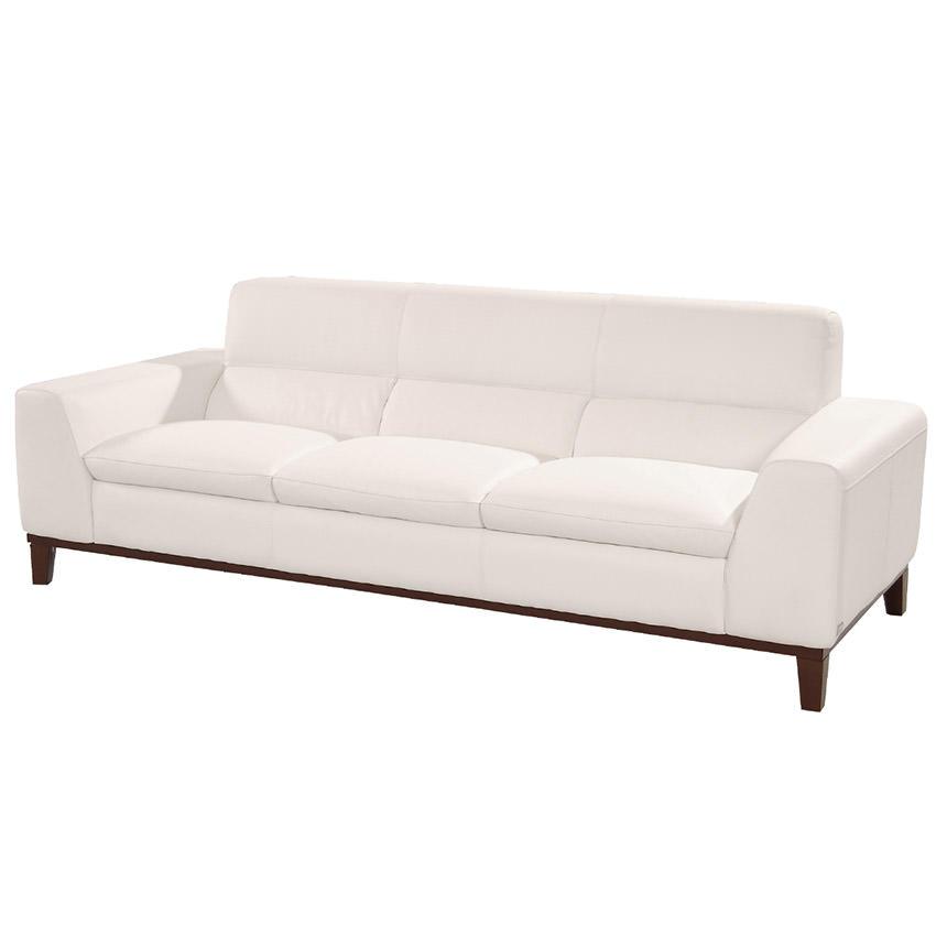 Milani White Leather Sofa