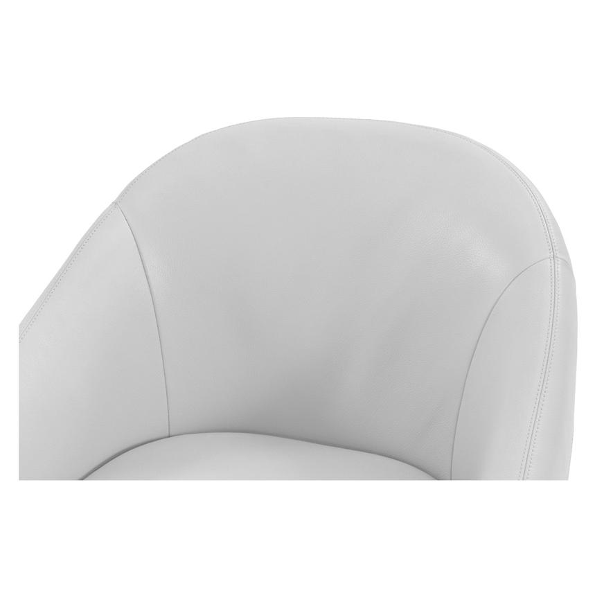 Brookville White Leather Swivel Chair  alternate image, 3 of 5 images.