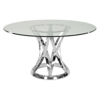 Janet Clear Round Dining Table