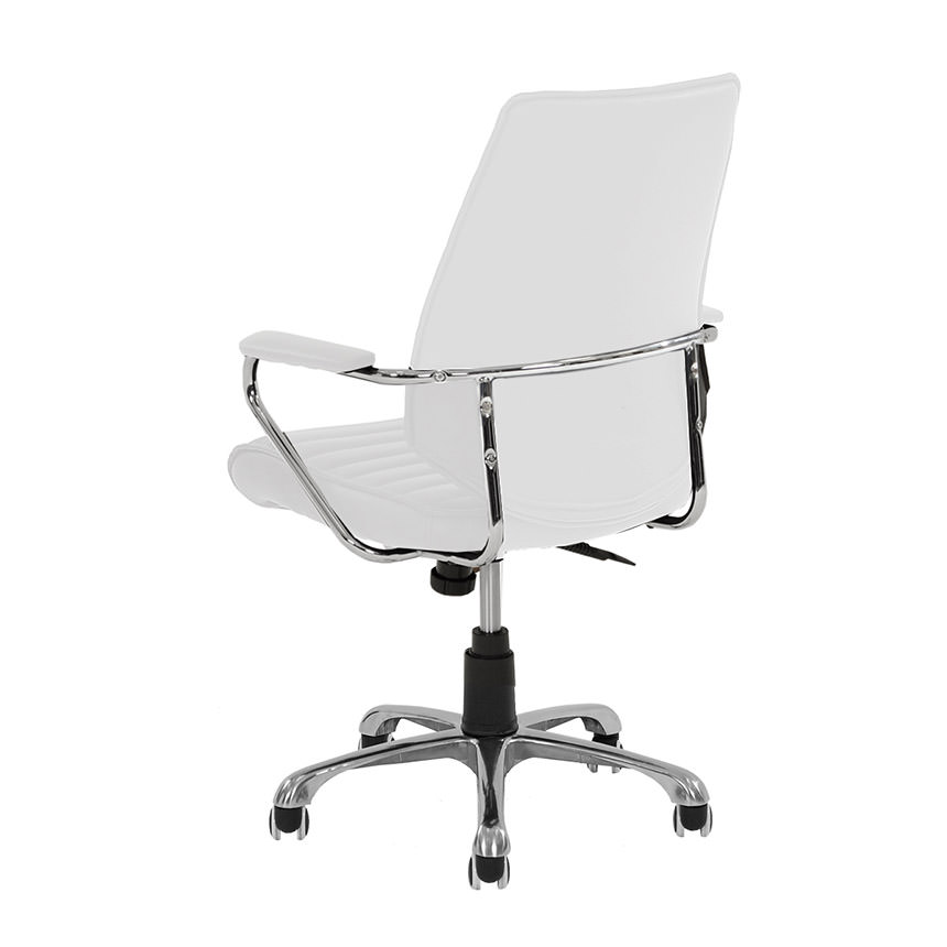 Enterprise White Desk Chair  alternate image, 3 of 4 images.