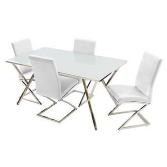 Jade White 5-Piece Dining Set