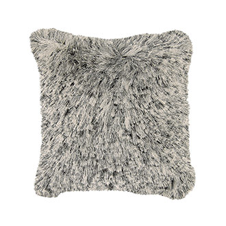 Crys White/Black Accent Pillow