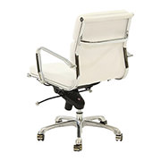 Marconi White Low Back Desk Chair  alternate image, 3 of 5 images.