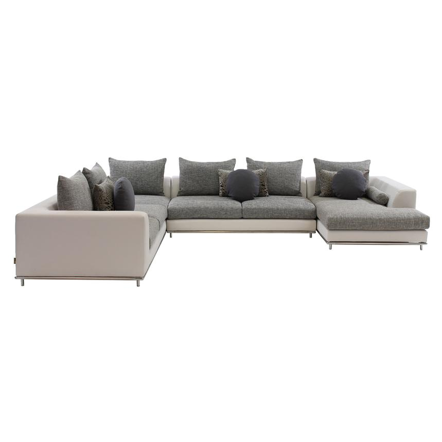 Hanna Sectional Sofa w/Right Chaise  alternate image, 5 of 9 images.